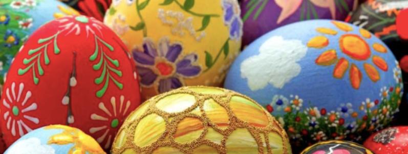 Bluebird cafe Easter eggs